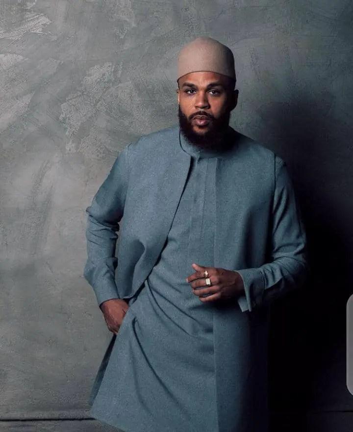 Jidenna wearing Nigerian native wear for men