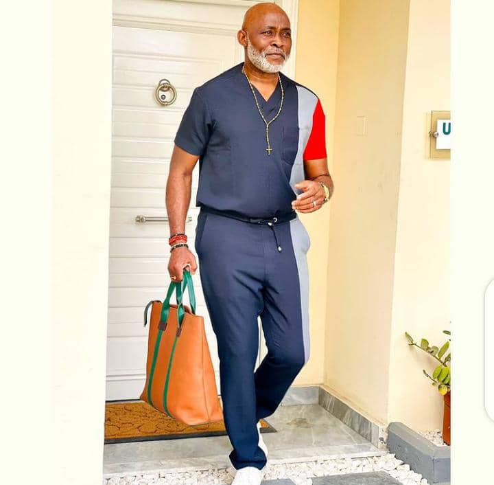 Richard Mofe-Damijo stepping out in casual outfit