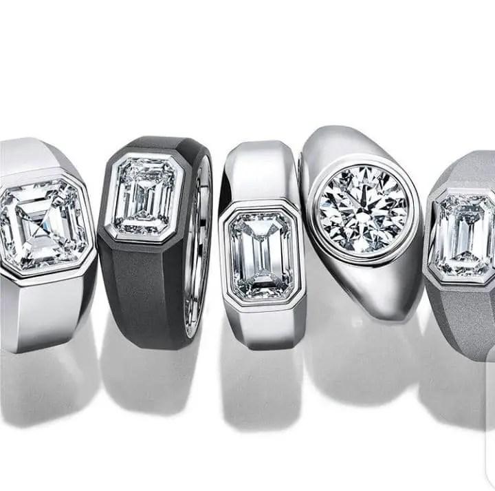 Tiffany and Co. diamond rings