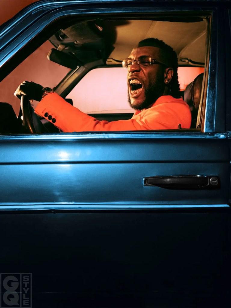 Burna Boy's attitude in a car