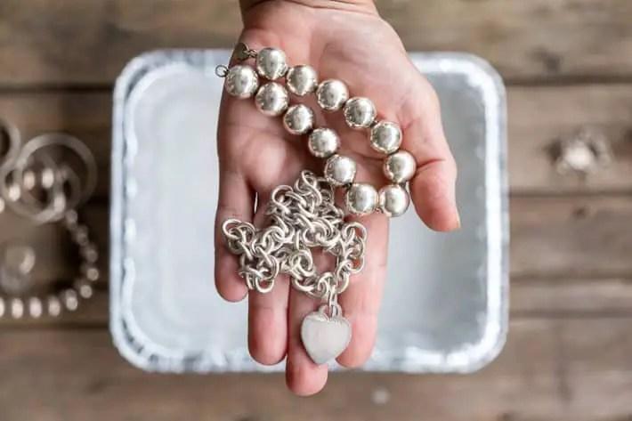 polished silver jewel