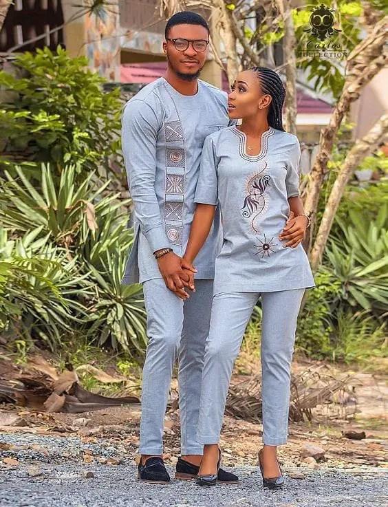 couple wearing same colour senator outfits