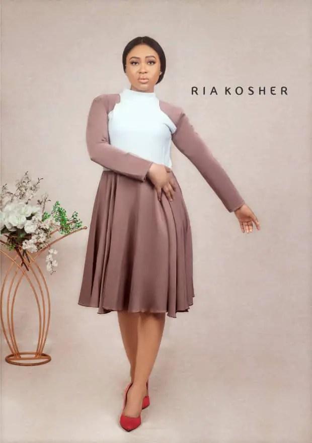 lady wearing dress by Ria Kosher