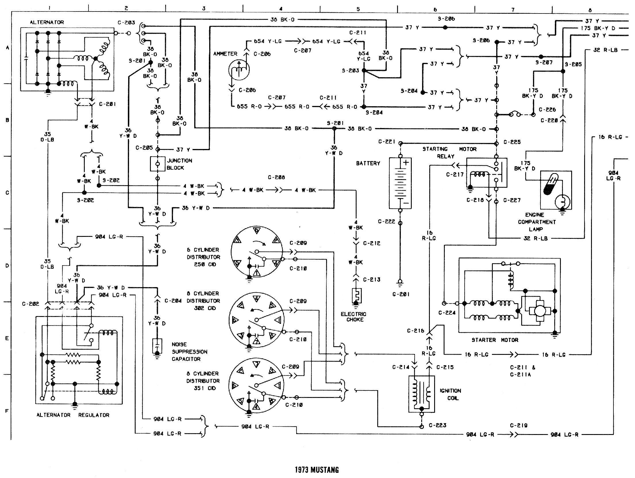73 mustang voltage regulator wiring diagram