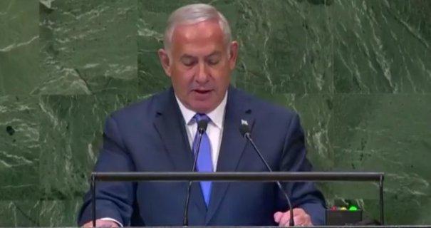 Benjamin Netanyahu tale til FN
