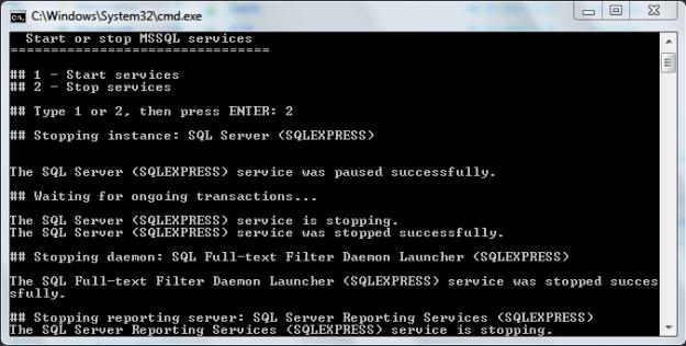 SQL Server Starter-Stopper