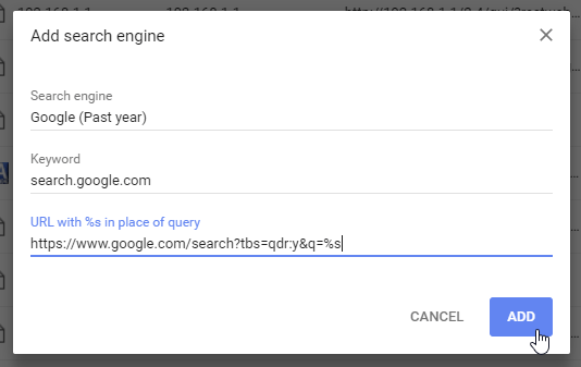 Søg med Google i Chrome indenfor det sidste år | svendk.dk