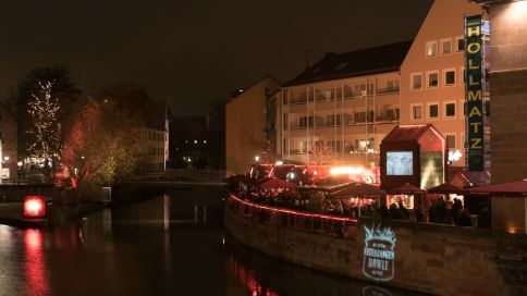 Nürnberg Fleischbrücke Feuerzangen Bowle 2015