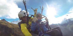 Video Paragliding Riffelberg Zermatt 2013