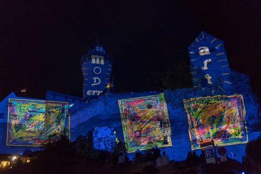 Kaiserburg Nürnberg in der blauen Nacht 2018
