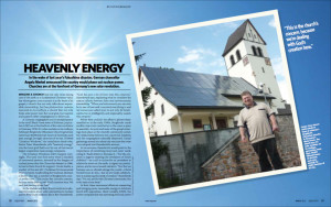 Solar roofs on German churches