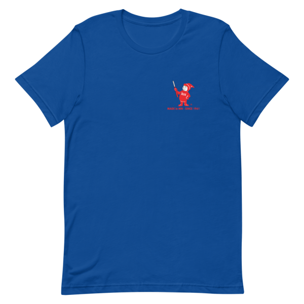 Blue Sven-Saw t-shirt front view