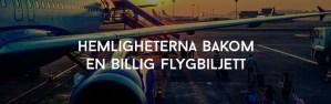 Hemligheterna bakom en billig flygbiljett