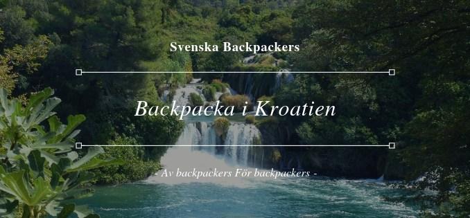 Backpacka i Kroatien