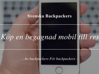 Köp en begagnad mobil till resan