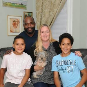 Foto: Michelle med sin familj.
