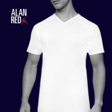 Alan Red Vermont TShirt V-Hals 2-Pack