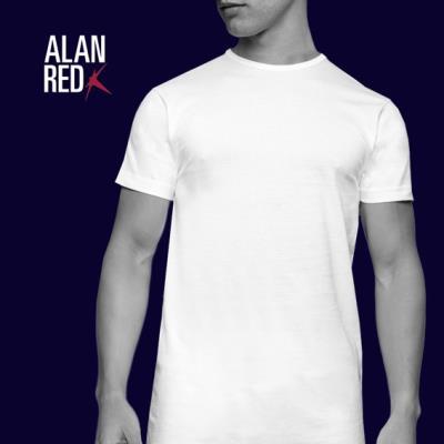 Alan Red Derby T-Shirt Ronde Hals 2-Pack