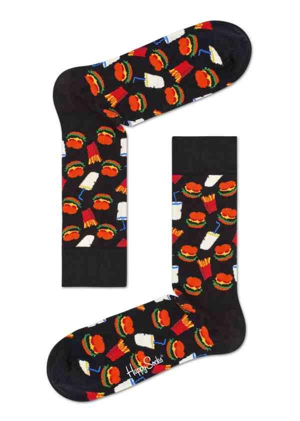 happy socks hamburger sok