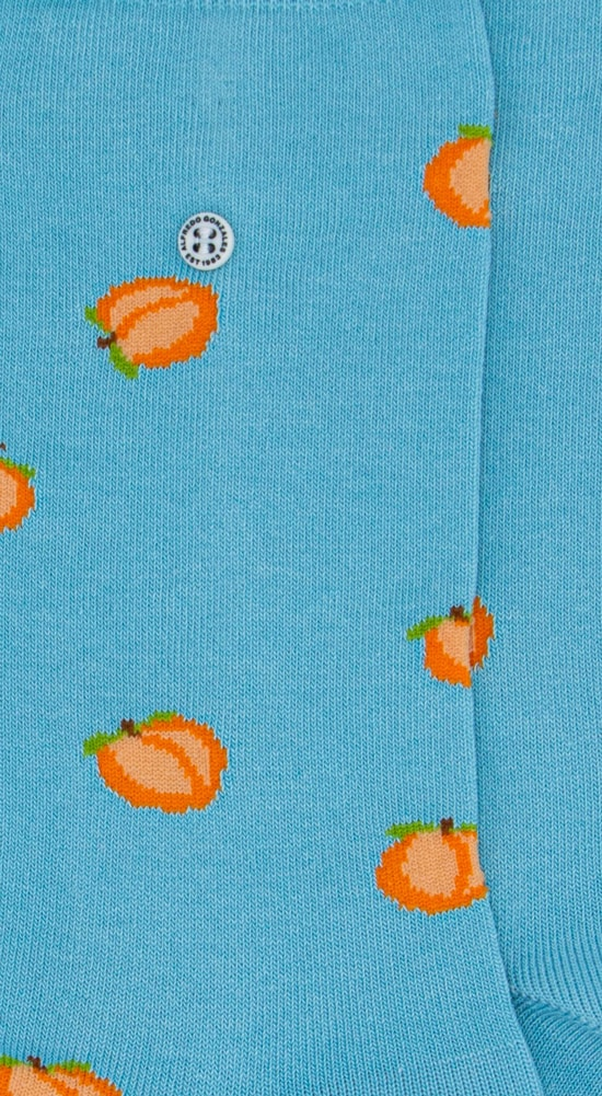 Alfredo Gonzales Sok Peach lichtblauw.