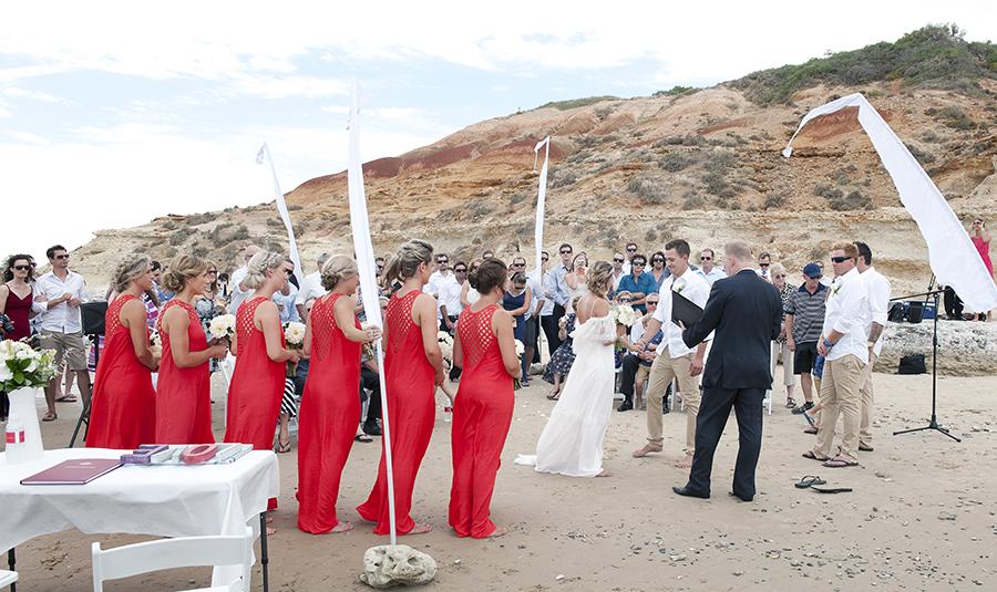 Southport beach wedding ceremony
