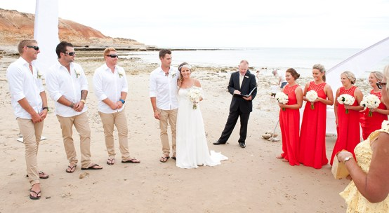 Southport beach wedding ceremony