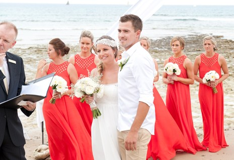 The bride and Groom at Southport beach