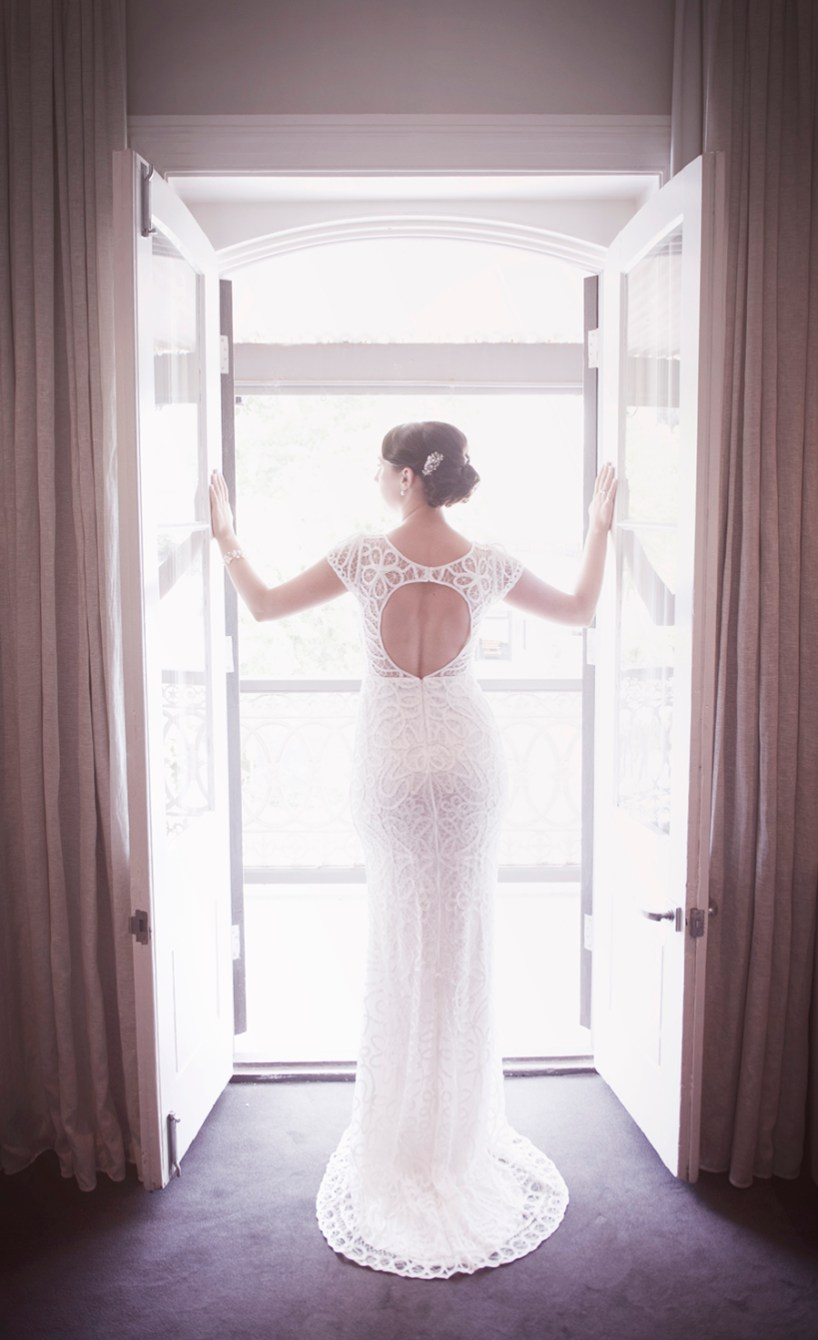 Wedding dress modelling at Stirling Hotel
