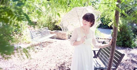 Bride in Chateau Gardenique Gardens