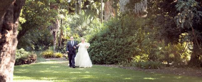 Arriving through the Adelaide botanic gardens