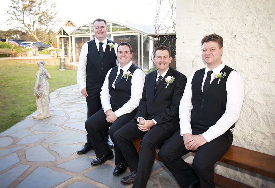 Groomsmen at Coriole Vineyards