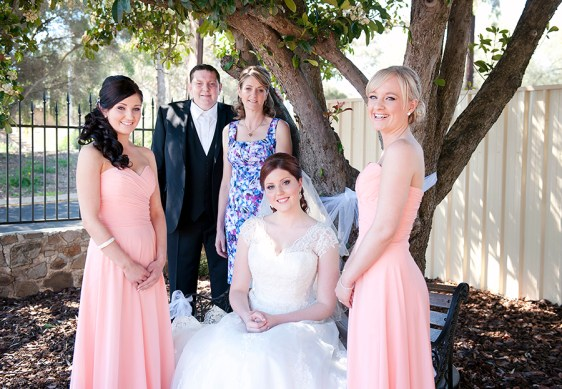 Bridal party and parents