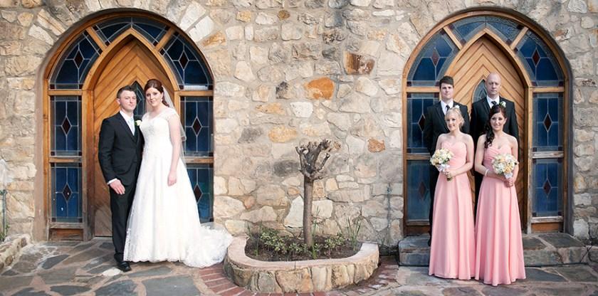 Bridal party at Camelot Castle