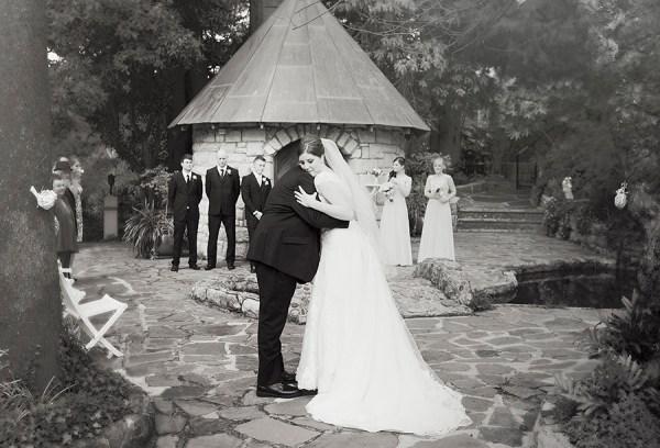 Dad giving bride away