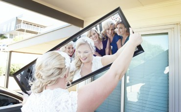 Bridal Party in mirror