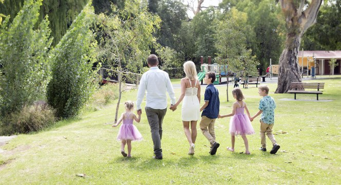 Family in Mitcham Reserve