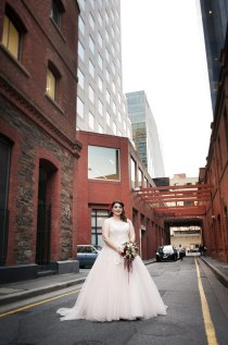 Behind the marriage registration office