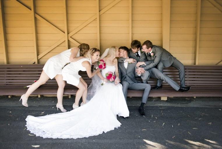 Belair train station wedding
