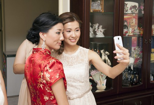 Bridal selfie