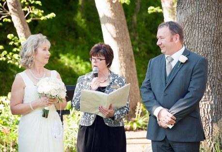 Wedding under the trees