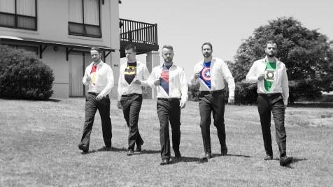 Super hero groomsmen