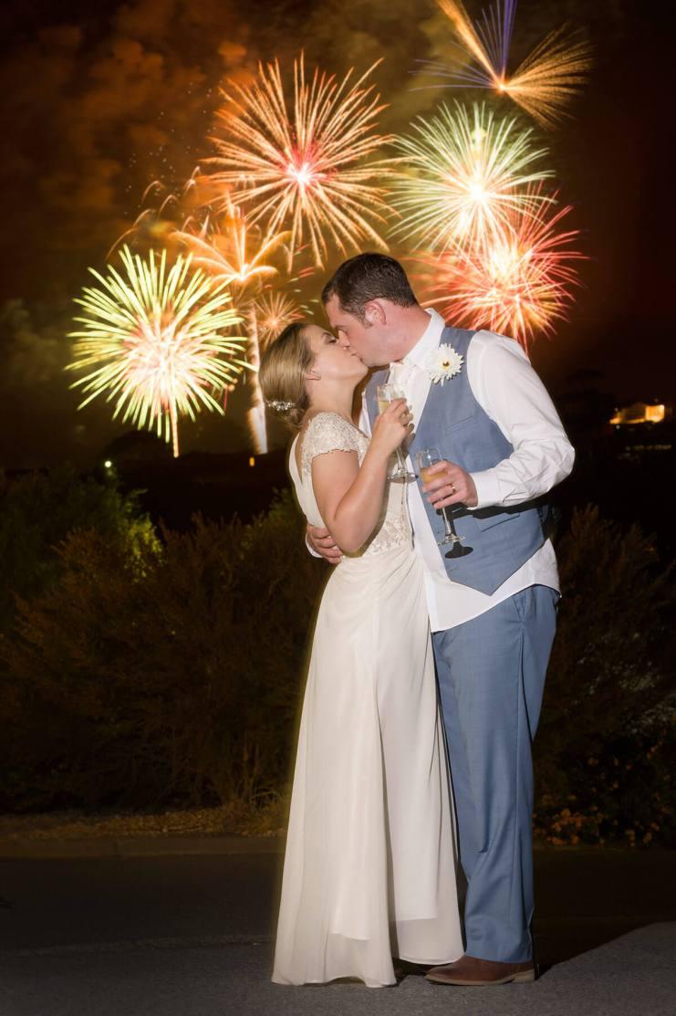 Victor Harbor Fireworks wedding