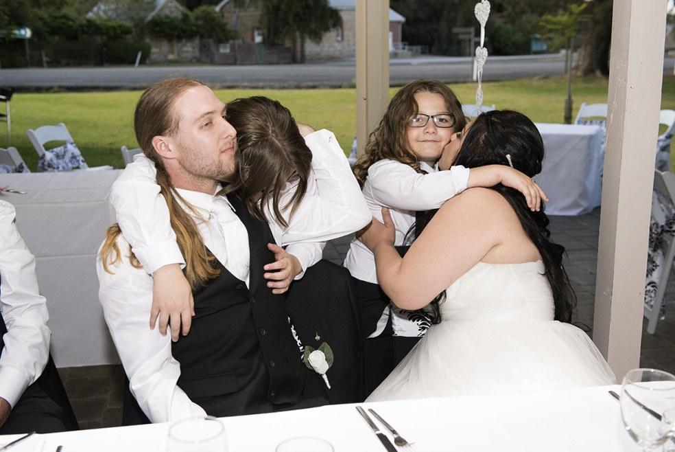 Wedding hugs