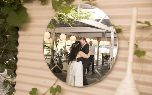 First dance in mirror