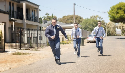 Groom being chased