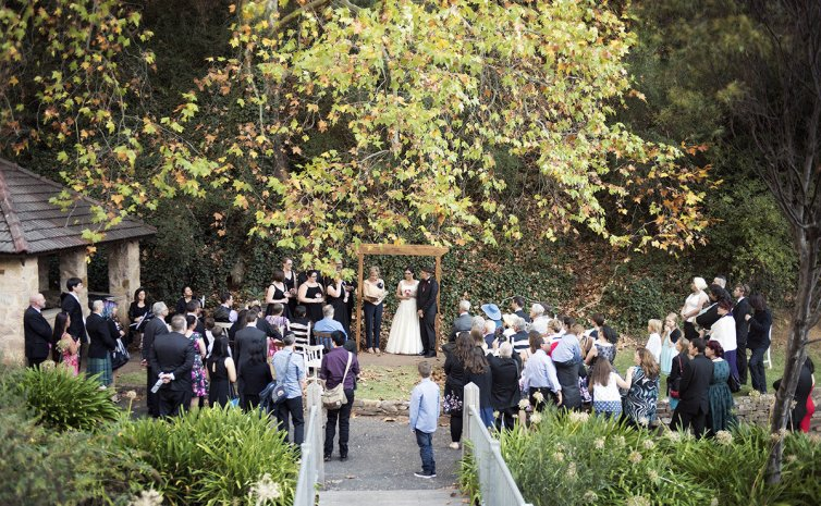 Utopia waterfall gully wedding