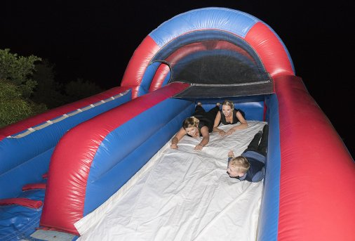 Blow up slide