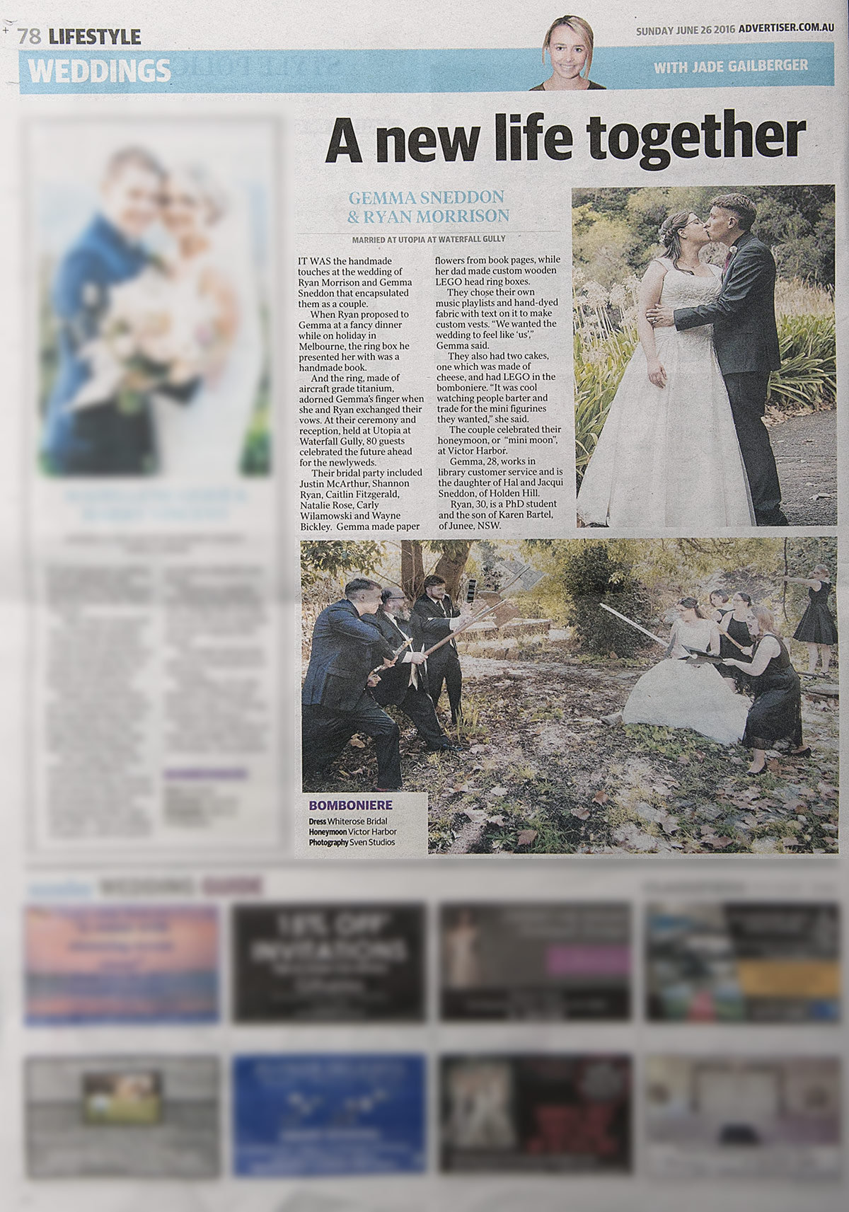 Sunday Mail SvenStudios wedding