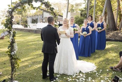 Bride reading