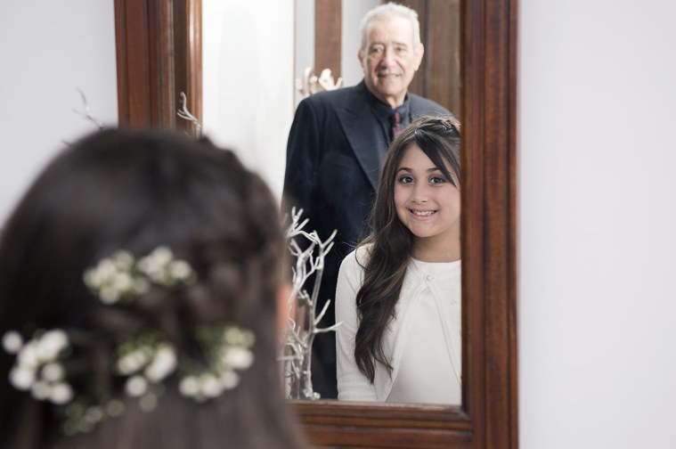 Flower Girl in mirror